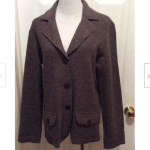 Bianca. Coat 42 US 12 Brown Button Front
